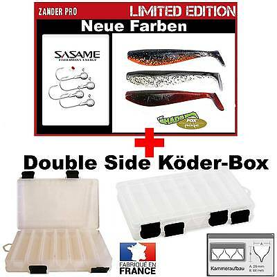 Fox Rage Zander Pro Shad Limited 10 cm with SASAME Jig´s+ Double Side Box