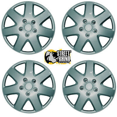 """Silver Tempest 15"""" Wheel Cover Hub Caps Set Ideal For Vauxhall Zafira"""