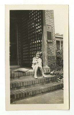 "20th Century Dog - Vintage Vernacular ""Found"" Glossy Photograph, 1935"
