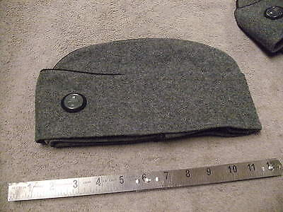 d30cbf03157 1950s-60 era Swiss Military Heavy Gray Wool Hat with Fold Down Ear Cover  Size