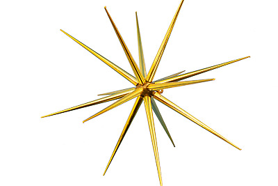 8'' Gold Starburst Ornament Hanging Gold Star Decoration