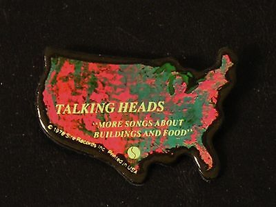 Talking Heads-More Songs About Buildings-ORIGINAL 1978 PROMO Pinback/Button!