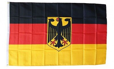 GERMANY WITH EAGLE FLAG 3 x 5 FOOT FLAG -NEW HIGHER QUALITY ULTRA KNIT 3x5' FLAG