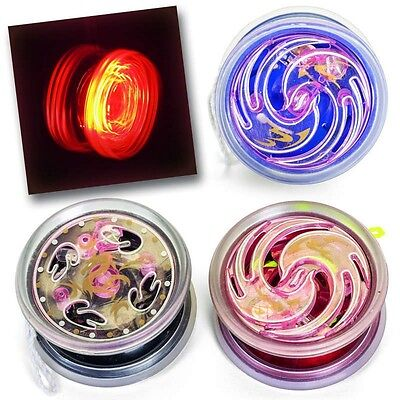 Assorted Colour LED Light Up Trick Yoyo Transaxle Design Fun Classic Toy Gift
