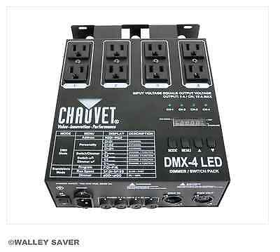 DMX 4 LED relay dimmer switch pack dj stage club dance floor lighting New