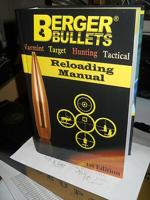 1st Edition------ Berger Bullets Reloading Manual Book -WorldWide shipping