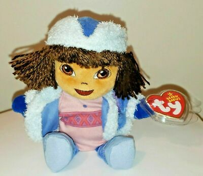 Ty Beanie Baby ~ DORA the EXPLORER (RUSSIA) Girl Doll ~ MINT with MINT TAGS