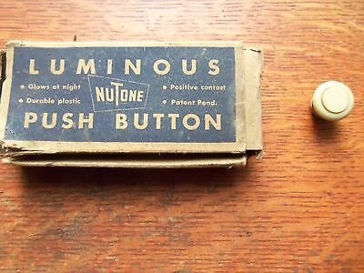 Vintage Mid-Century Modern Luminous Glowing Electric Push Button NIB Unused