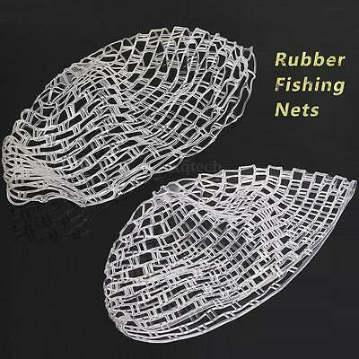 39'' / 47'' Fly Fishing Landing Net Clear Rubber Replacement Bag Outdoor Hunting