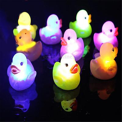 5x RUBBER LED COLOUR CHANGING BABY WATER PLAY FUN KIDS BATH BATHING TOY DUCKS