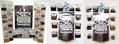50 Vegetable Herb Flower Seed Variety Packets Pack Garden Survival Food Kit Lot