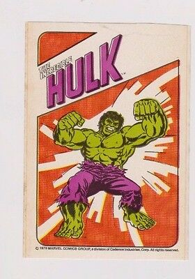 "1979 Marvel Trix Cereal The Incredible Hulk 3"" x 4 1/2"" Sticker"