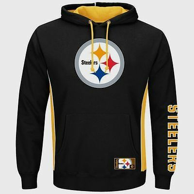 Pittsburgh Steelers Pullover Hoodie Passing Game Black Plus Size Double Logo NFL