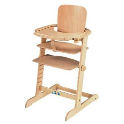 GEUTHER FAMILY SOLID wooden beech highchair. £70.00