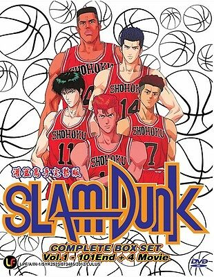 SLAM DUNK TV+Movies | Episodes 001-101+4 | English Subs | 12 DVDs (PD0464)