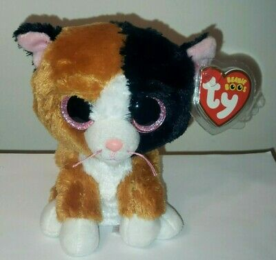 """Ty Beanie Boos ~ TAURI the 6"""" Calico Cat (2016) ~ NEW with MINT TAGS ~ Plush Toy"""