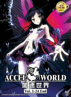 ACCEL WORLD | Episodes 01-24 | English Subs | 2 DVDs (GM0035)-LU