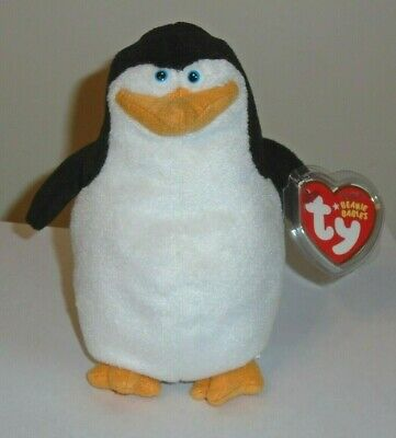 Ty Beanie Baby ~ SKIPPER the Penguin (Madagascar Movie) - MINT with MINT TAGS