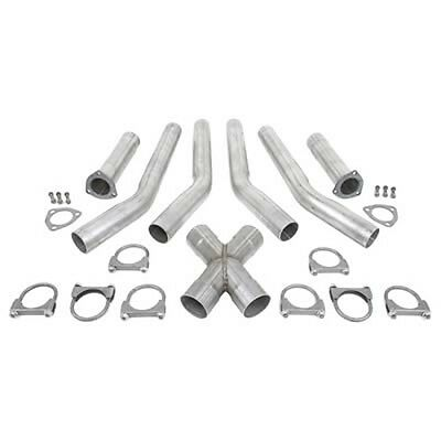 Exhaust X Pipe 3 INCH  UNIVERSAL INSTALLATION KITS