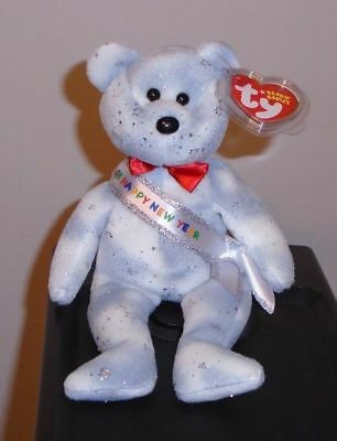 Ty Beanie Baby ~ 2008 the New Years Bear ~Internet Exclusive MINT with MINT TAGS