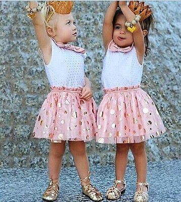 Summer Baby Girls Dress Sleeveless Tulle Tutu Girl's Sequins Party Dresses 2-7Y
