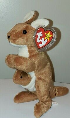 Ty Beanie Baby ~ POUCH the Kangaroo ~ MINT with MINT TAGS ~ RETIRED