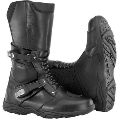 Firstgear Kathmandu Waterproof Motorcycle Boots Black Men's (Runs Small)