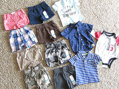 New Baby Boy Clothing Carters Romper Shorts Summer Tops 3 Months  Free Ship