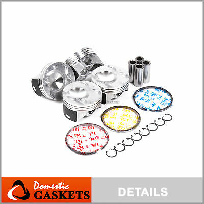 Fit 02-06 Acura RSX Base 02-05 Honda Civic 2.0L DOHC Pistons and Rings Set K20A3