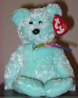 Ty Beanie Baby ~ SHERBET the Aqua Bear ~ MINT with MINT TAGS ~ RETIRED