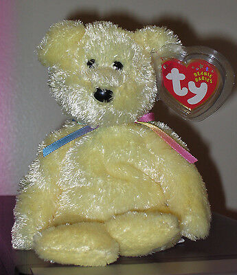 Ty Beanie Baby ~ SHERBET the Yellow Bear ~ MINT with MINT TAGS ~ RETIRED