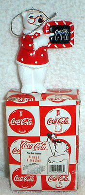 Coca Cola Coke Polar Bear Always A Teacher Christmas Ornament