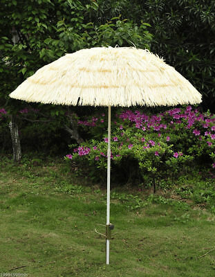 Outsunny 6FT Wide Thatched Beach Umbrella Sunshade Outdoor Market Patio Yard