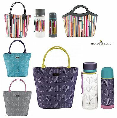 Beau & Elliot Confetti Outline Linear, Lunch Tote Bags, Flasks or Water Bottles