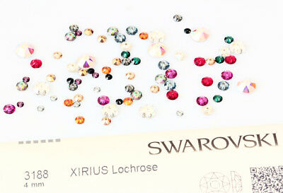 Genuine SWAROVSKI 3188 XIRIUS Lochrose Round Sew-On Stones Crystals One Hole