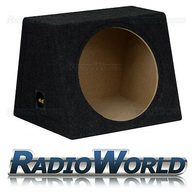 "50L 15"" MDF Sub Box Subwoofer Enclosure Bass Empty Enclosure Black Carpet"