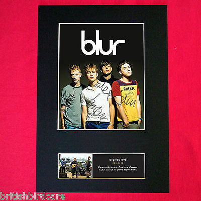 BLUR Mounted Signed Photo Reproduction Autograph Print A4 352