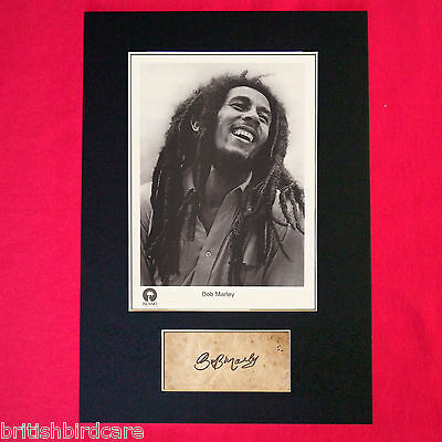 BOB MARLEY Autograph Mounted Photo REPRO QUALITY PRINT A4 62