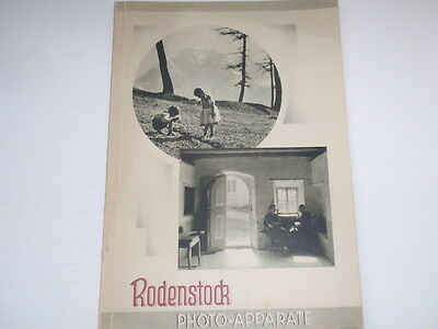 Rodenstock Photoapperate antique Brochure original de la Temps
