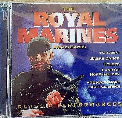 NEW SEALED - THE ROYAL MARINES BRASS BANDS - Military Band Music CD Album