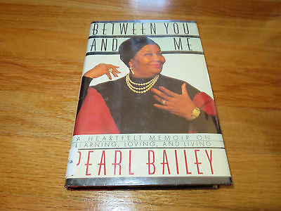 PEARL BAILEY signed BETWEEN YOU AND ME 1989 1st Edition Book To Craig