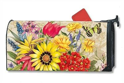 Botanical Garden Mail Box Wrap flowers magnetic Mailwrap mailbox cover standard