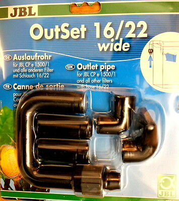 JBL Outset wide - return water set with wide jet - 16/22 , outlet pipe e1500