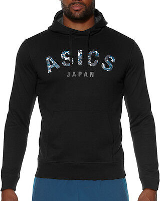 Asics Camou Logo Mens Training Hoody - Black