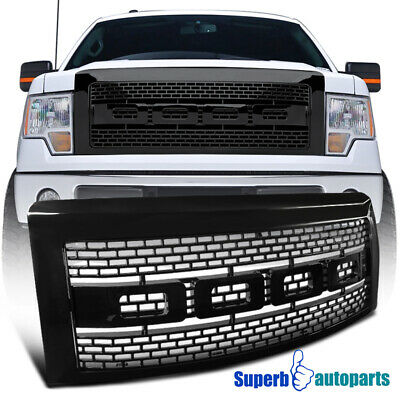 2009-2014 Ford F150 Black ABS Luxury Raptor Style Front Hood Grille