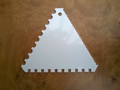 Pastry Dough Triangular Sawtooth Scraper Cutter (Brand New)