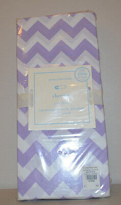 NIP Pottery Barn Kids Lavender HARPER Chevron Cotton Crib Bed Skirt