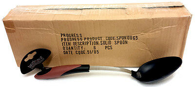 Wholesale Carton Of 6 Progress Heatwave Soft Grip Stainless Steel Solid Spoons