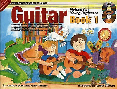 Progressive Guitar Method For Young Beginners Sheet Music Book 1 +CD & DVD Easy
