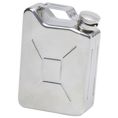 Gas Can Shaped Alcohol 5 oz Stainless Steel Flask Screw Hip Pocket Liquor Silver
